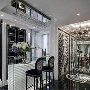 大户型现代室内欧式风格吧台装修效果图