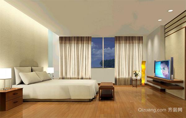 2016三居室后现代装修风格卧室吊顶装修效果图