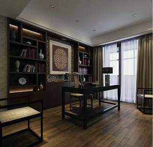 100平米大户型中式风格书房吊顶装修效果图