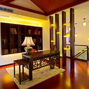 中式书房书桌展示