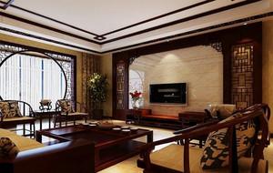 古色古香的新中式电视背景墙装修图片