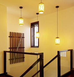 书香世家 中式复式楼装修设计效果图