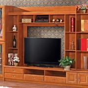 实用朴素客厅实木电视柜装修效果图片