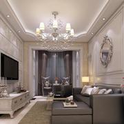 米白色优雅客厅图片