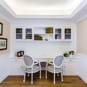 美式简约书房书桌图片