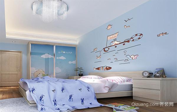 2016大户型欧式风格儿童房吊顶装修效果图