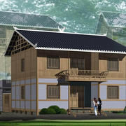 中式木屋小别墅