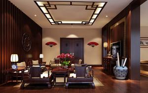 中式客厅实木家具欣赏