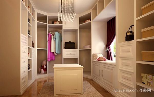 现代大型单身公寓衣帽间装修效果图片