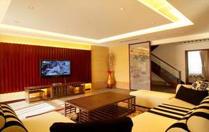 中式客厅电视墙展示