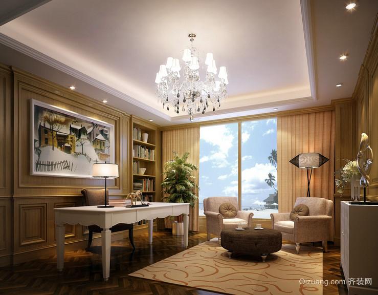 420平米复式楼简欧书房设计效果图