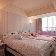 美式粉色浪漫卧室展示