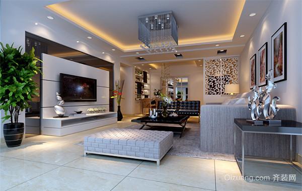 大户型欧式风格客厅电视墙背景装修效果图