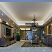 100平米大户型简欧风格客厅装修效果图