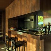 美式实木吧台展示