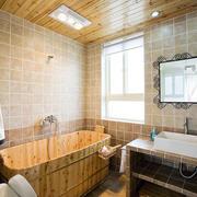 小卫生间实木浴缸欣赏