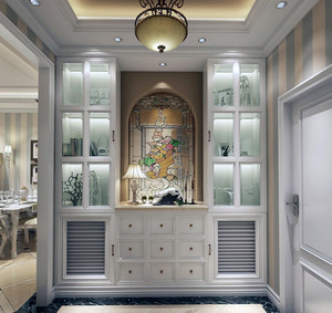 90平米大户型欧式风格客厅玄关装修效果图