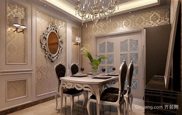现代欧式小户型餐厅背景墙装修实例欣赏