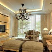 客厅古典吊灯欣赏