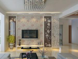 精美大户型欧式客厅电视背景墙装修效果图