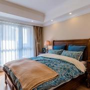 美式卧室实木床