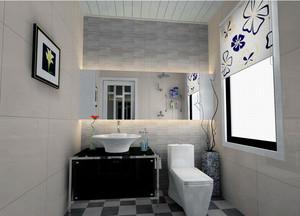 2016大户型欧式风格卫生间背景墙装修效果图