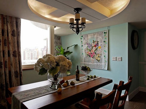 都市三室一厅美式风格装修样板房