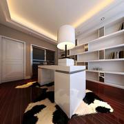 135平米三居室现代书房设计效果图