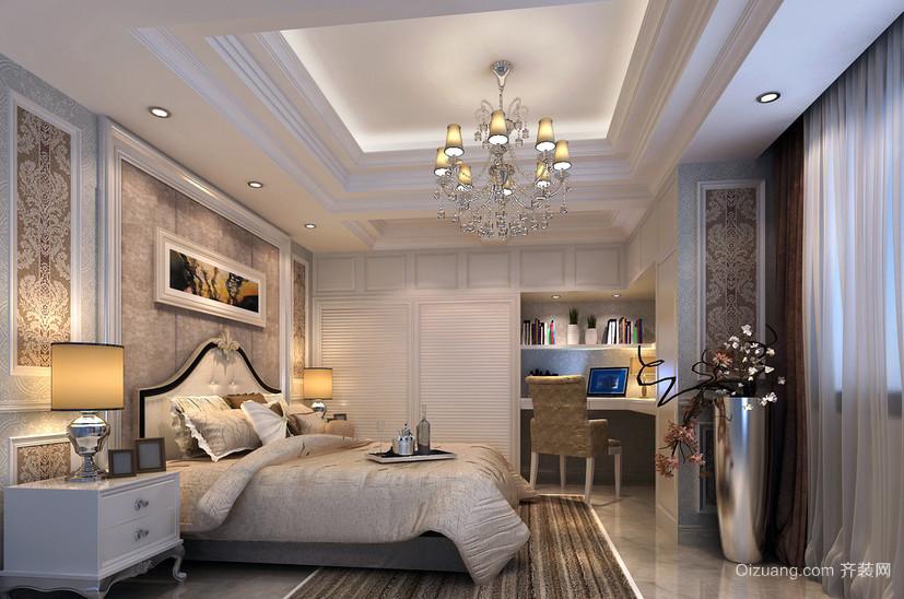 大户型公寓简欧风格卧室大衣柜效果图