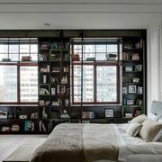 小户型卧室书架展示