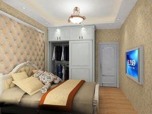 18平米宜家小卧室白色大衣柜效果图