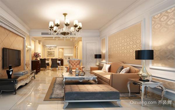 尊贵气质型大户型简欧客厅装修效果图