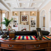 美式客厅壁柜展示