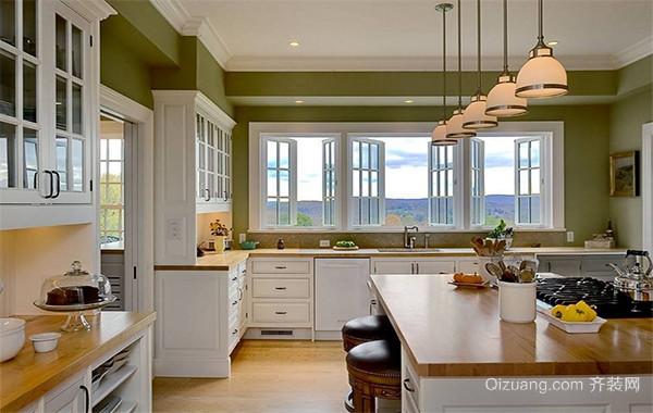 120平米大户型欧式开放式厨房吊顶装修效果图