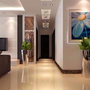 三居室现代简约走廊吊顶装修效果图