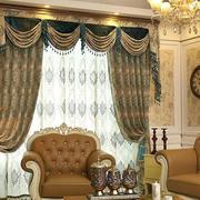 大户型客厅古典欧式风窗帘效果图