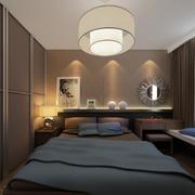 深色稳重的卧室