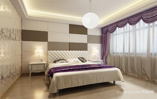 大户型欧式卧室床头背景墙装修效果图实例