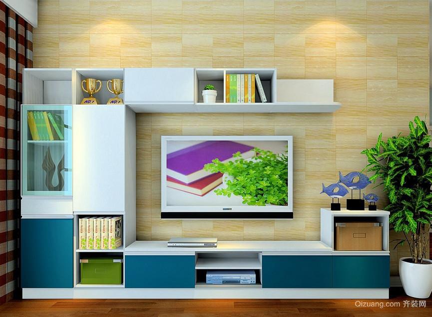 2016简约小户型家居客厅电视柜效果图