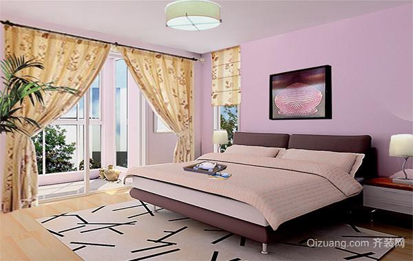 90平米大户型欧式卧室背景墙装修效果图案例