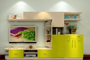 全新小清新客厅实木电视柜效果图
