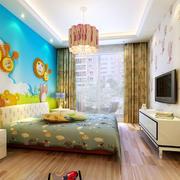 橙色现代化儿童房