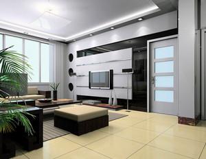现代大户型室内装修欧式风格客厅装修效果图