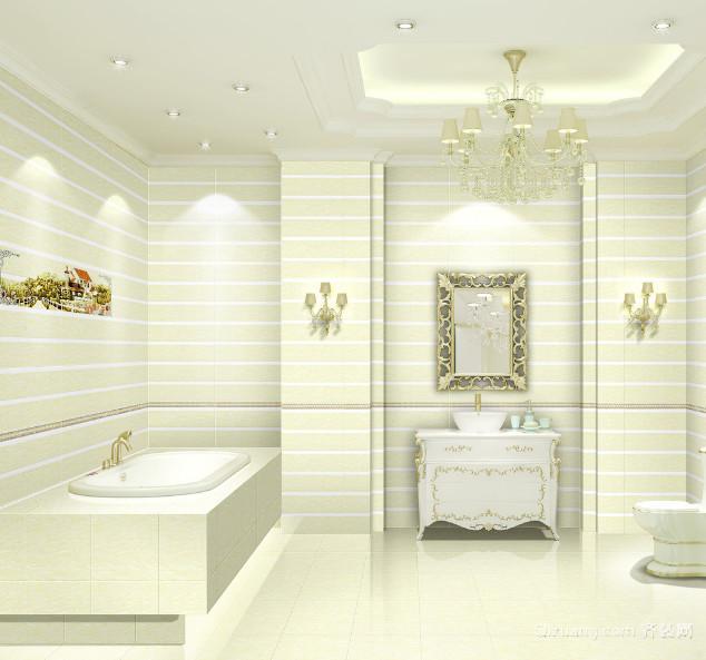 现代欧式大户型卫生间装修效果图实例欣赏