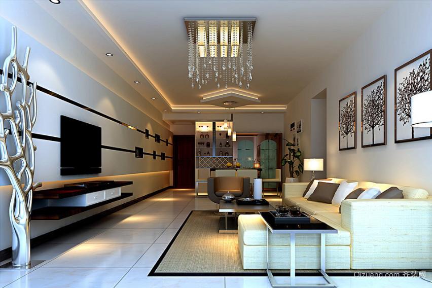 120平米大户型欧式风格室内吊顶装修效果图