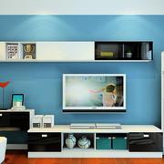 现代时尚之家小客厅电视柜效果图