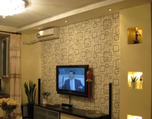 2016欧式室内硅藻泥电视背景墙装修效果图