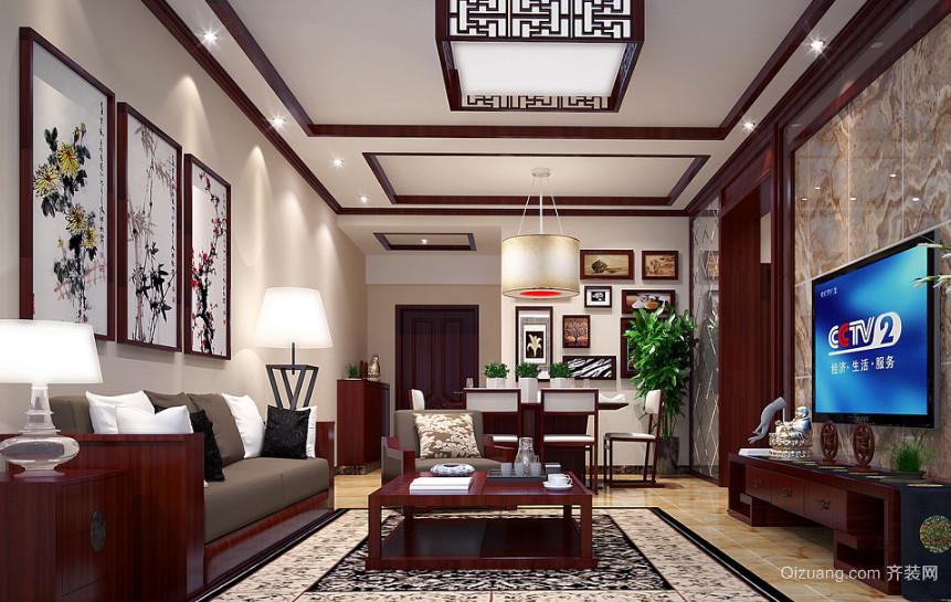 现代大户型中式客厅室内装修效果图鉴赏