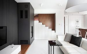 黑白主义148平米现代简约风新房装修图