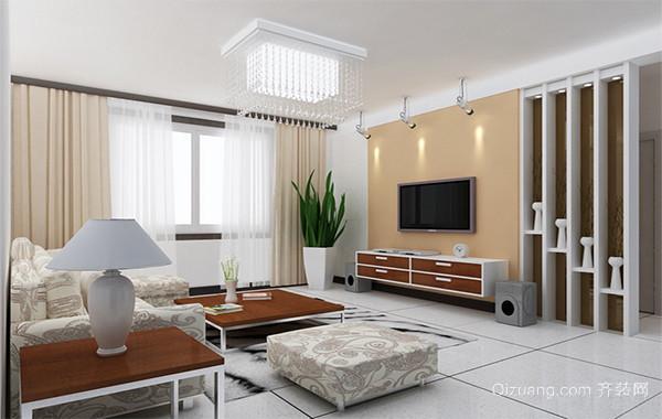 现代别墅欧式客厅电视机背景墙装修效果图